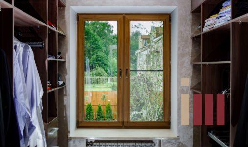 Шпонированное окно в гардеробной