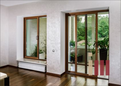 Раздвижная дверь и раздвижное окно