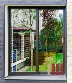 Раздвижное окно из стеклокомпозита