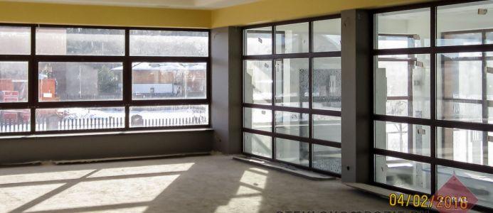 Большие витражи и стеклянные стены из стеклокомпозита