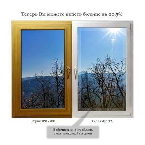 Сравнение окна Триумф и окна Мечта